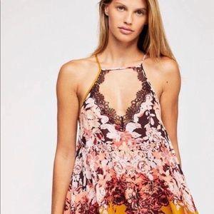 NWT Free People floral haze mini slip dress